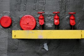 2014-08-life-of-pix-free-stock-photos-dark-wall-fire-alarm-sprinkler-red-yellow-street-fire-hydrant
